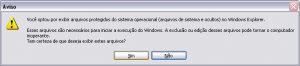 Essa janela de alerta aparece, ms não tenha medo. Clique SIM.